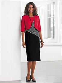 Graphic Stripe Jacket Dress