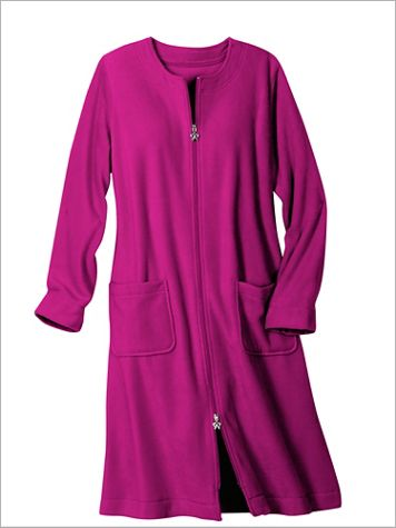 Fleece Knee Length Robe - Image 1 of 4