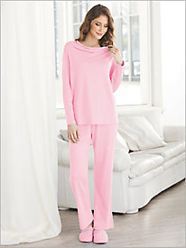 Cotton Modal Cowl Neck Sleeping Set