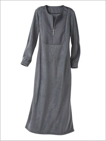 Fleece & Satin Robe - Image 2 of 2