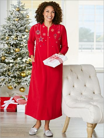 Festive Fleece Robe - Image 2 of 2