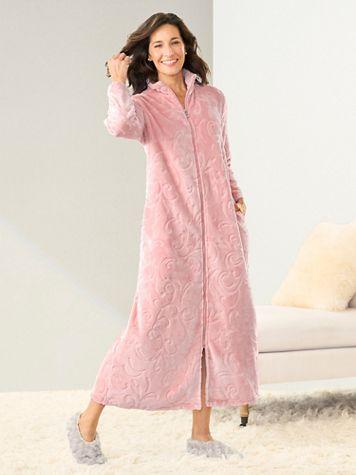Jacquard Chenille Full Length Robe - Image 1 of 3