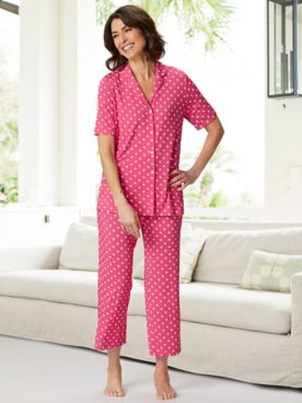 Polka Dot Crop Pajama Set