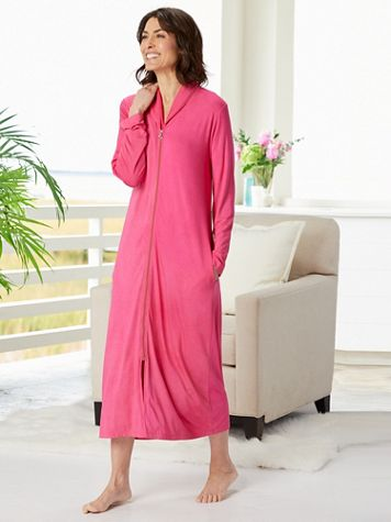 Zip Front Knit Robe