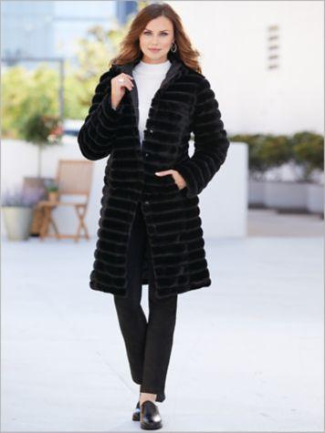 Fabulous Faux Fur Coat & Suede Knit Leggings
