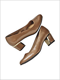 Gold Deanna Pumps by Soft Style®