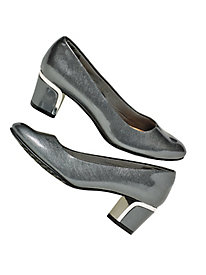 Pewter Deanna Pumps by Soft Style®