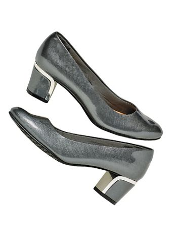Pewter Deanna Pumps by Soft Style® - Image 2 of 2
