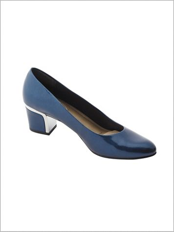 Navy Deanna Pump by Soft Style® - Image 0 of 1