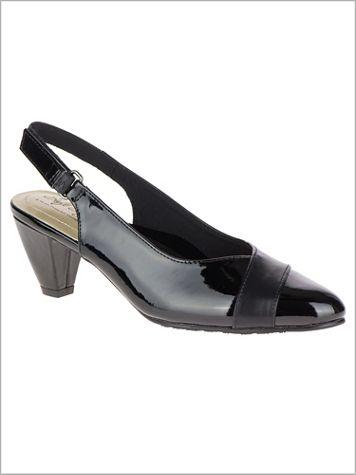 Black Dagmar Sling Back by Soft Style®