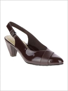Brown Dagmar Sling Back by Soft Style®