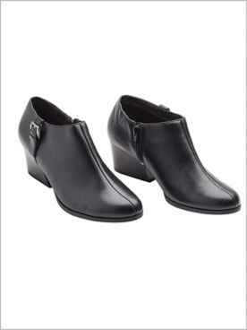 Black Glynis II Ankle Boots by Soft Style®