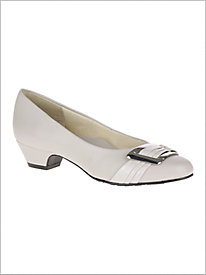 Pleats Be With You Pump - Silver