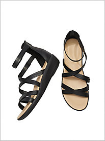 Lyrical Back Zip Sandals by Hush Puppies®