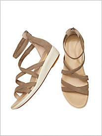 Lyrical Back Zip Sandals by Hush Puppies