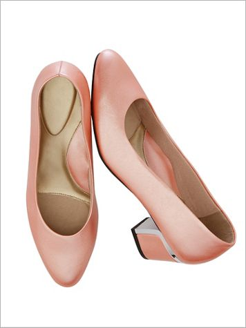 Coral Pink Deanna Pumps by Soft Style® - Image 2 of 2
