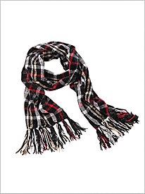 Pop Plaid Chenille Scarf