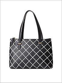 Positive Negative Quilted Handbag