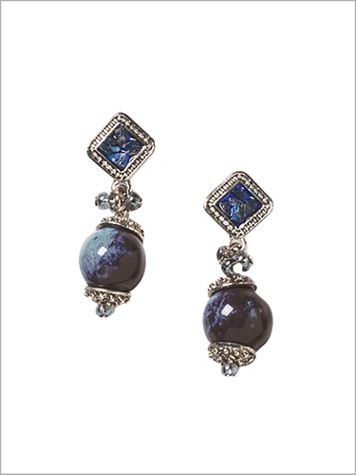Singing The Blues Pendant Earrings - Image 1 of 1