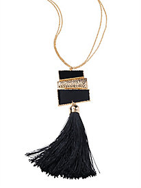After Dark Tassel Necklace