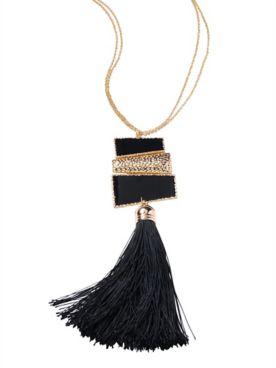 After Dark Tassel Necklace