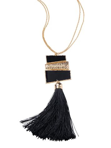 After Dark Tassel Necklace - Image 2 of 2