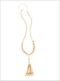 Pearl-Fection Tassel Necklace