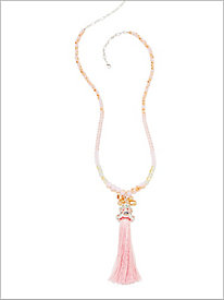 First Blush Tassel Necklace
