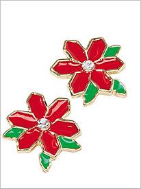 Sparkle Poinsettia Earrings