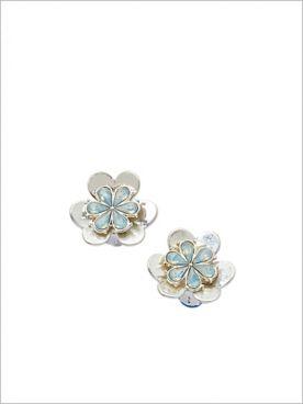 Gilded Floral Tassel Earrings