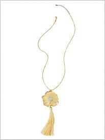 Garden Delight Tassel Necklace