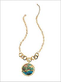 Painterly Pendant Necklace