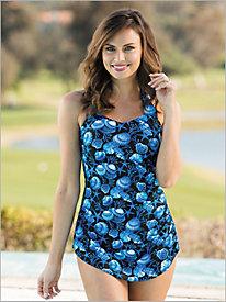 Print One-Piece Swimsuit