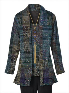 Signature Knits® Crepe Print Jacket