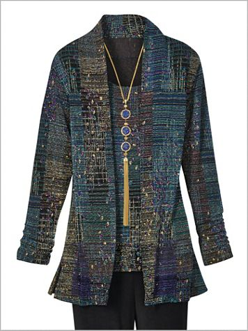 Signature Knits® Crepe Print Jacket - Image 3 of 3