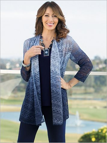 Ombr&#233 Cascade Knit Cardigan - Image 2 of 2