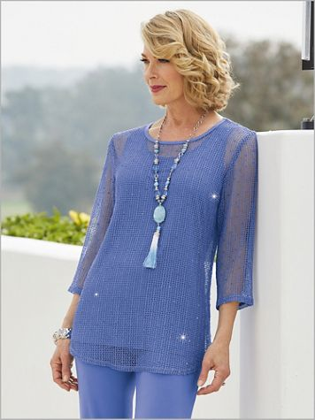 Sequin Mesh Tunic Top - Image 2 of 3