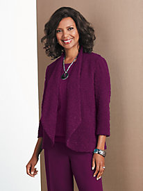 Sequin Bouclé Jacket by Alfred Dunner