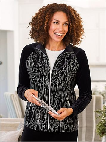 D&D Lifestyle™ 18K Velvet Long Sleeve Jacket - Image 2 of 2