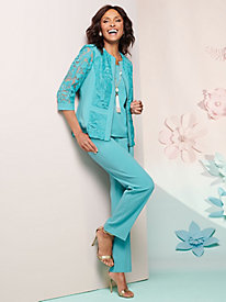 Lovely Linen And Lace Jacket Separates
