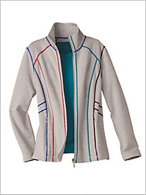 Party Stitched French Terry Jacket by D&D Lifestyle™