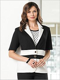 Colorblock Ponte Knit Jacket by Brownstone Studio®