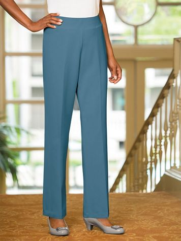 Couture Crepe™ Straight Leg Pull-On Pants - Image 1 of 3