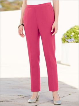 Look-Of-Linen Ankle Pants