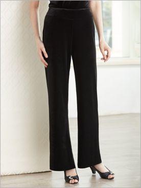 Velvet Pull-On Pants by Alex Evenings