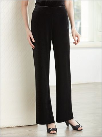 Velvet Pull-On Pants by Alex Evenings - Image 2 of 2