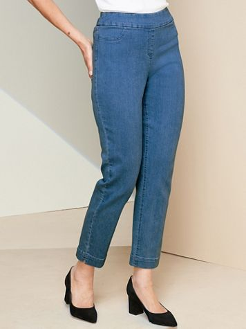 Slimtacular® Ankle Pull-On Denim Jeans - Image 1 of 7