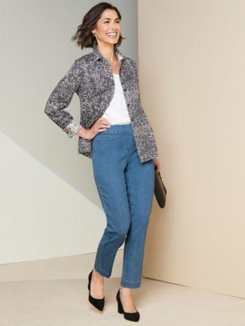 Essential Jewel Neck Tee & Slimtacular® Denim Ankle Jeans