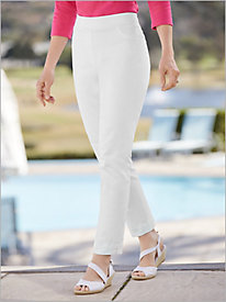 Slimtacular® White Denim Ankle Pants