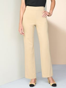 Pull-On Ponte Pants by Brownstone Studio®